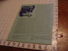 vintage Original SF Zine: LOCUS #46 Jan 12, 1970--Charlie & Dena Brown--10 pgs