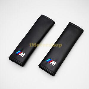 Premium Leather CAR/TRUCK Shoulder Pad Cushion Belt Cover fits BMW Mpower ///M