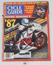 CYCLE GUIDE Rare Motorcycle MAGAZINE March 1987 YAMAHA FZR Street Cover Issue