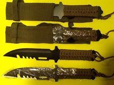 Lot of 3 Black Survival Knives Emergency Doomsday Prepper Bug Out Bag Hunting