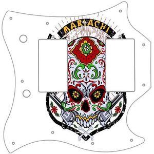 Custom Graphical Pickguard to fit Fender J Bass Jazz Bass Demon Skull