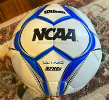New listing Wilson Ncaa and Nfhsi Ultimo Wth9050 Premium MatchSoccer Ball Size 5 White/Blue