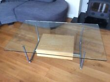 Ikea Hemberg Gl Coffee Table With Wood Drawer