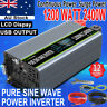 Car Solar Power Inverter Pure Sine Wave 1200W 2000W 12V to 240V LCD Converter AU