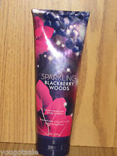 Bath Body Works~SIGNATURE COLLECTION-SPARKLING BLACKBERRY WOODS BODY CREAM~