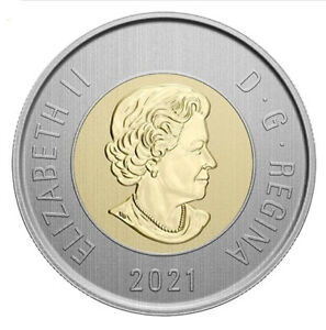 2021 Canada Bimetallic  $2 toonie Specimen finish coin from set