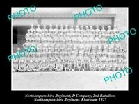 OLD 8x6 HISTORIC MILITARY PHOTO OF NORTHAMPTONSHIRE REGIMENT 2nd BATTALION 1927