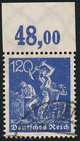 DR 1922, MiNr. 188 P OR, gestempelt, Befund Tworek, Mi. 350,-