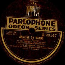 """LOTTE LEHMANN """"Ariadne auf Naxos"""" In den schönen Feierkl. Schellackplatte G4110"""