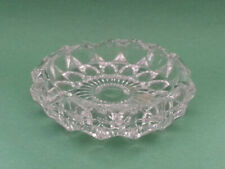 """Cigar Crystal Ashtray Round Made in France 4"""" in diameter"""