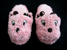Gymboree Giraffe Bedroom Slippers Non Slip Bottom Pink Brown Fuzzy 13-1