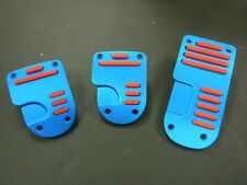 UNIVERSAL PEDAL COVER BLUE/RED  MANUAL 3PCS/SET