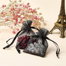 100pcs Mini Drawstring Organza Bags Party Gift Pouches Jewelry Packing 70x50mm