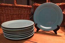 "Vintage Fiesta Ware 9"" Lucheon Plates in Turquoise"
