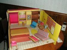 Vintage 1960's Barbie Teenage Fashion Model Cardboard Dream House w/Furniture