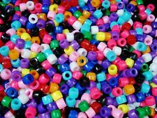 Pony Beads 500pc Fun Mix 6x4.5mm DIY Jewellery Spacer Acrylic Hair FREE POSTAGE