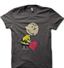 Banksy Charlie Brown smoking with petrol funny printed t-shirt OZ9163
