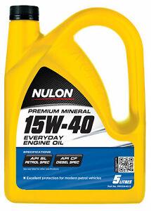 Nulon Premium Mineral Everyday Engine Oil 15W-40 5L PM15W40-5 fits Fiat Croma...