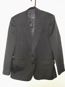 Carlo Pucci Couture Mens Sport Suit Coat Blazer 44R Gray Unvented Fully Lined