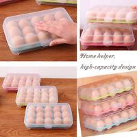 15Gitter Eier Box Kasten Vorratsbehälter Kunststoff Kühlschrank Eierkarton I7P5