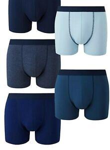 BNWOT Jacamo 4 Pack Blue Navy Hipsters Trunks Underwear Boxers 3XL 54 56