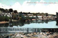 Ansonia,Connecticut,Nangatuck River & R.R.Bridge,New Haven Co.c.1901-06