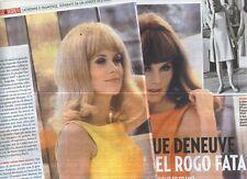 Ga51 Ritaglio Clipping del 2012 Catherine E Francoise Deneuve quel rogo fatale..