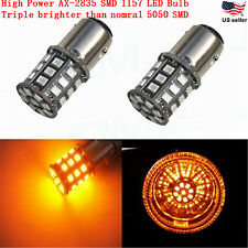 JDM ASTAR 2x 1157 BAY15D Amber AX-2835 SMD 12V LED  Car Turn Signal Light  Bulbs