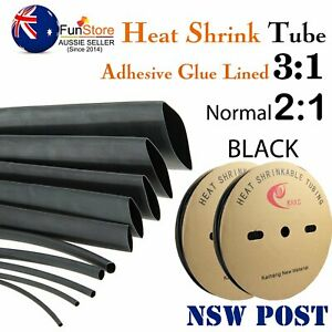 Ratio 4:1/3:1/2:1 Heat Shrink Tube Black Tubing Cable Insulation & Wire Sleeve