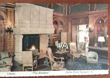 """Library, """"The Breakers"""", Ochre Point-Newport, R.I. Postcard New"""
