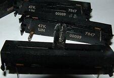 4 x 47K LIN slider pot 60mm Egen 501-00009 linear control  potentiometer 50k 473