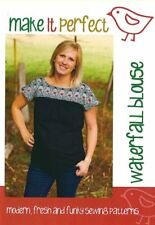 PATTERN - Make it Perfect - Waterfall Blouse - sizes 2 xs to 2 xl included