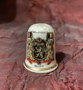 BELGIE BELGIQUE Thimble BONE CHINA