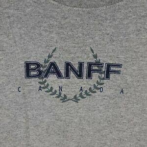 Banff National Park Canada T-Shirt size XL gray logo vintage 2000s graphic y2k
