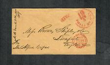 """Transatlantic Ship Cover Philadelphia 1857 """"Arabia"""""""