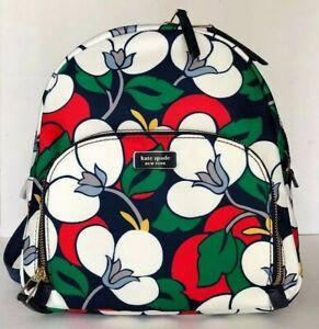 New Kate Spade New York Dawn medium Backpack handbag Nylon Floral multi