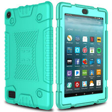 For Amazon Kindle Fire HD 8 7 2017 Case Shockproof Hybrid Rugged Rubber Cover US