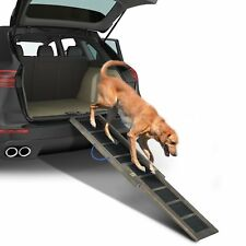 "65"" Telescoping Pet Ramp Bi-Fold Travel Lite Gear Portable Dog Cat Step 220lbs"