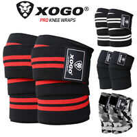 """XOGO Weight Lifting Knee Wraps Training Fist Straps Power Lifter Gym Support 78"""""""