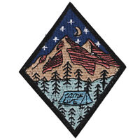 camp life embroidered patch outdoor camping badge applique sew on pat#LT Jf