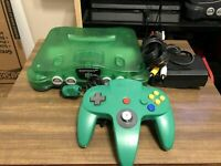 Nintendo 64 N64 Jungle Green Console & Authentic Controller