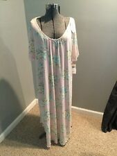 $68 Miss Elaine Pink Floral Nightgown Size 3XL A20