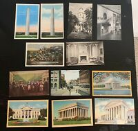Lot of 12 Original Vintage Postcards - Washington D.C. - RPPC, Jefferson Mem. +