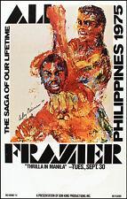 Original 1975 Muhammad Ali vs Joe Frazier III Closed Circuit Boxing Fight Poster