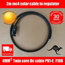 2m DC Solar Cable 4mm Twin Core DC MC4 male / female to join to your regulator.