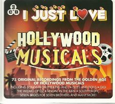I JUST LOVE HOLLYWOOD MUSICALS 3 CD BOX SET - Seven Brides King and I Many more