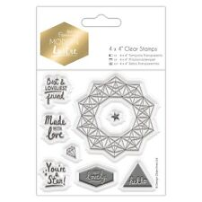 "SENTIMENTS - 4""x4"" Clear Stamp Set - Modern Lustre Collection - DoCrafts"