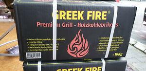 Greek Fire Holzkohlebriketts - 10kg