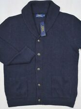 Polo Ralph Lauren Cardigan Sweater Shawl Collar Navy Size XL NWT $168
