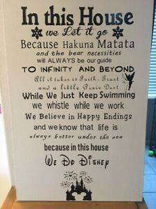 Disney Sign In This House We Do Disney House Sign Disney Quotes Gift Idea